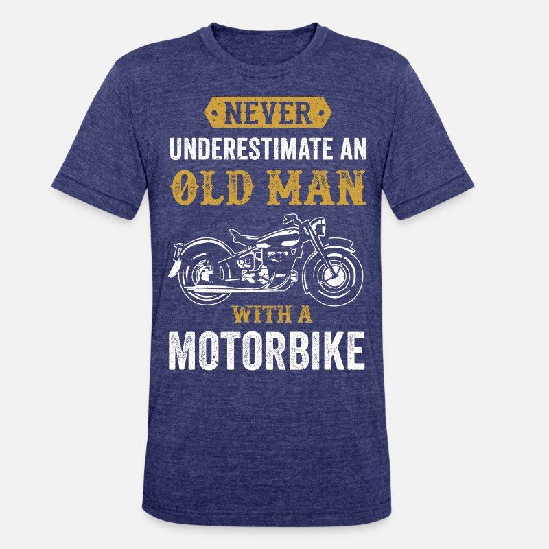5772561e3b Unisex Tri-Blend T-ShirtOld Man Dad Grandpa present Motorbike Chopper gift