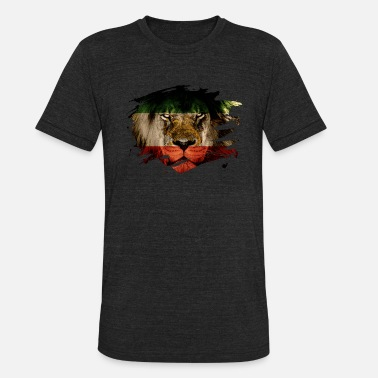 Persia Persia Flag & African Lion Picture - Unisex Tri-Blend T-Shirt