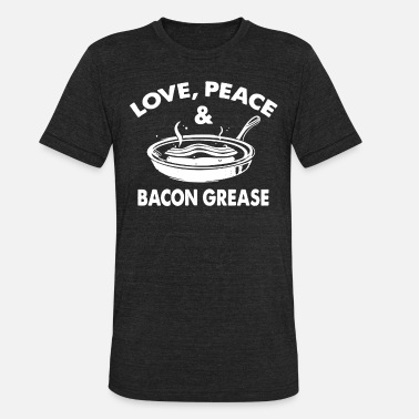 Grease Movie Love Peace and Bacon Grease - Unisex Tri-Blend T-Shirt