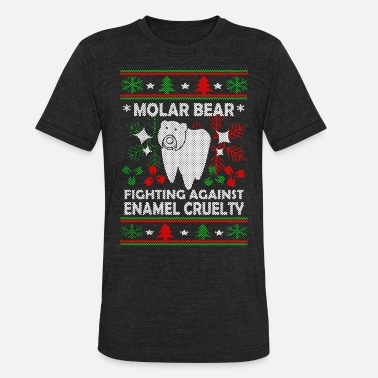 Molar Molar Bear Ugly Christmas T Shirt - Unisex Tri-Blend T-Shirt