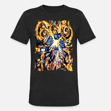 Peter Capaldi Exploded Pandora Phone Box abstract paintings - Unisex Tri-Blend T-Shirt
