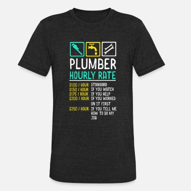 Hourly Plumber Hourly Wage - Unisex Tri-Blend T-Shirt