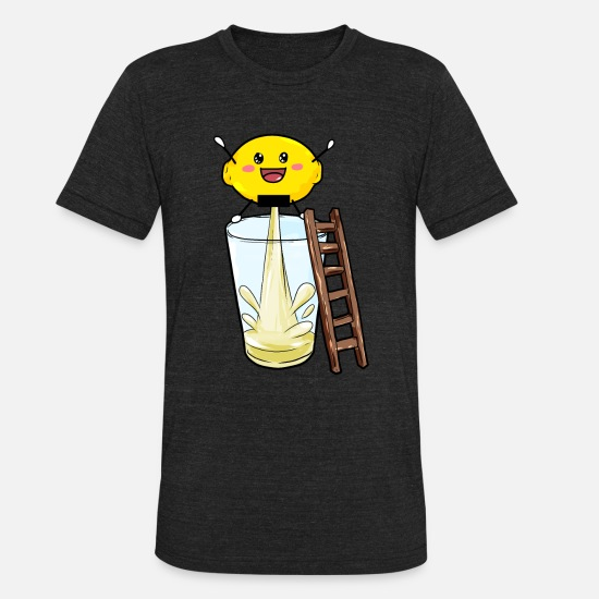 Gift Idea T-Shirts - Lemon pees lemonade - Unisex Tri-Blend T-Shirt heather black