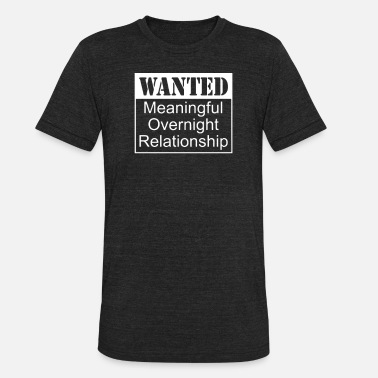 be9f77183 Wanted Meaningful Overnight Relationship - Unisex Tri-Blend T-Shirt