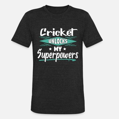 Comics Cool Funny Cricket Champion Winner Superpowers - Unisex Tri-Blend T-Shirt