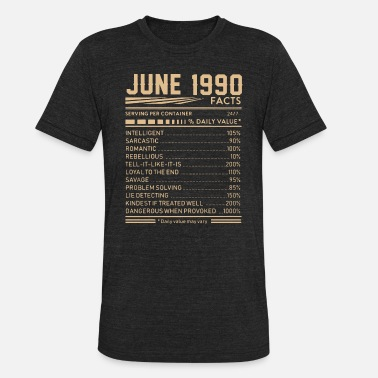 June Facts june 1990 facts birthday - Unisex Tri-Blend T-Shirt