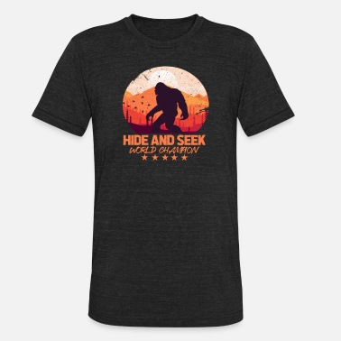 Undefeated Hide And Seek Bigfoot - Unisex Tri-Blend T-Shirt