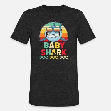 b526ee05 Retro Vintage Baby Sharks Tshirt gift for Father - Unisex Tri-Blend T-Shirt