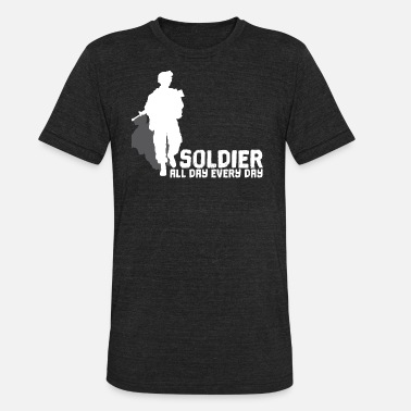 Date Of Birth Soldier all day every dry - Unisex Tri-Blend T-Shirt