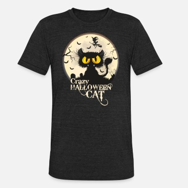 Halloween Cat - Unisex Tri-Blend T-Shirt