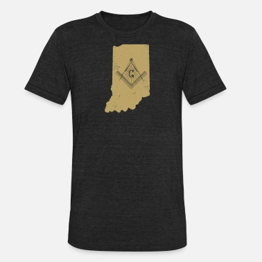 Freemason Square And Compass Indiana Freemason Shirt With Freemason Square & Compass - Unisex Tri-Blend T-Shirt