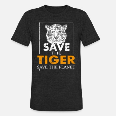 Extinct Save the tiger Save the planet - Unisex Tri-Blend T-Shirt