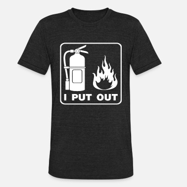 Canada Firefighter I Put Out Funny Firefighter Fireman - Unisex Tri-Blend T-Shirt