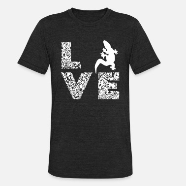 I Love Reptiles Love Gecko Reptile Gifts - Unisex Tri-Blend T-Shirt