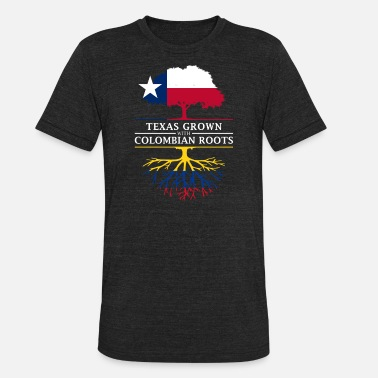 Proud Colombian Roots Texan Grown with Colombian Roots - Unisex Tri-Blend T-Shirt
