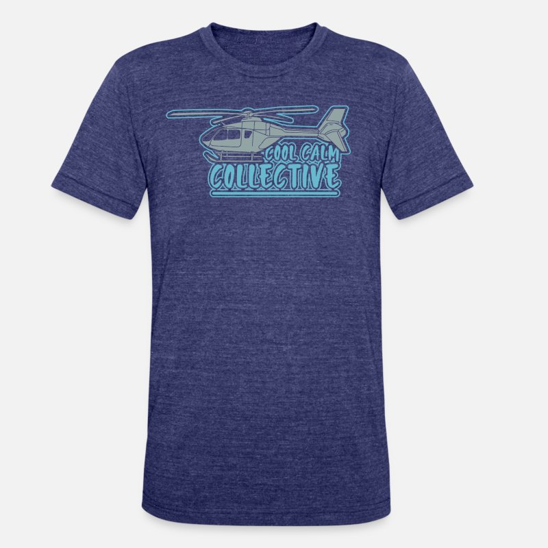 2ecc1c09 HELICOPTER GIFT: Cool Calm Collective Unisex Tri-Blend T-Shirt | Spreadshirt