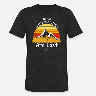 Gradient Not All Who Wander Are Lost Gradient Mountain Gold - Unisex Tri-Blend T-Shirt