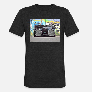 Graffiti Hiphop DC 102 Full Color Graffiti - Unisex Tri-Blend T-Shirt