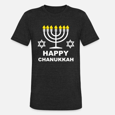 Chanukkah Happy Chanukkah Menorah Gift - Unisex Tri-Blend T-Shirt