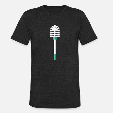 Toilet Brush Toilet Brush - Unisex Tri-Blend T-Shirt