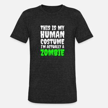Duh T-Shirt Silly Sarcastic Funny Halloween Costume Ladies Mens I/'m a Zombie