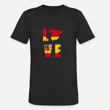 Patriot SPAIN LOVE - Unisex Tri-Blend T-Shirt