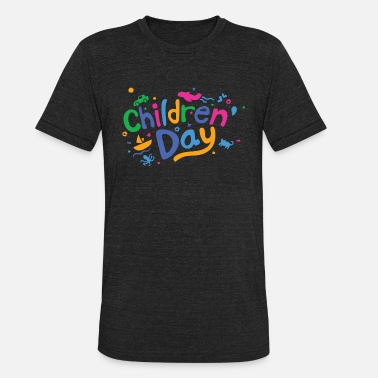 Childrens Day Fun Childrens Day Colorful - Unisex Tri-Blend T-Shirt