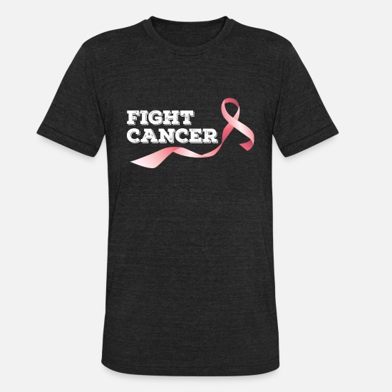 Fight T-Shirts - Fight Breast Cancer - Unisex Tri-Blend T-Shirt heather black
