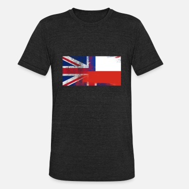 Chile Chilean British Chilean Half Chile Half UK Flag - Unisex Tri-Blend T-Shirt