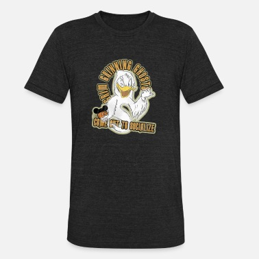 Grins Donald Duck Grin Grinning Ghosts - Unisex Tri-Blend T-Shirt
