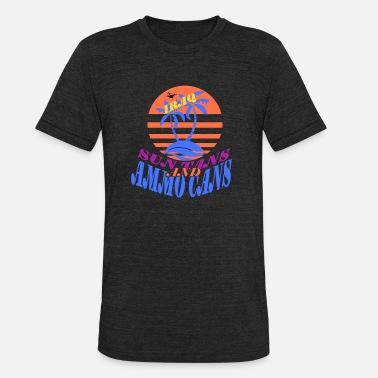 Sun Tanning Sun Tans and Ammo Cans - Iraq - Unisex Tri-Blend T-Shirt