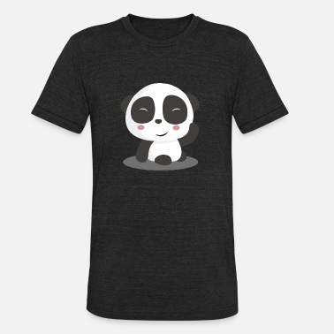 8d6e3e893461 Cute Asian Panda Cute Asian Bamboo China Bear Gift - Unisex Tri-Blend T-.  Unisex Tri-Blend T-Shirt