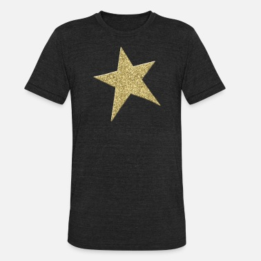 Gold Metallic GOLD METALLIC STAR - Unisex Tri-Blend T-Shirt