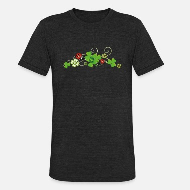 Ladybird Four leaf clover design. New years eve party. - Unisex Tri-Blend T-Shirt
