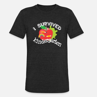 End Of The Year Survive Kindergarten End of Year Graduation Shirt - Unisex Tri-Blend T-Shirt