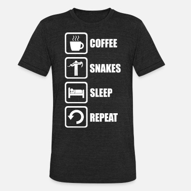 Snake Love Funny Snakes - Funny Coffee Snakes Sleep Repeat - Unisex Tri-Blend T-Shirt