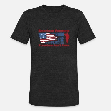 Porn Veteran American veterans - Courage honor power valor - Unisex Tri-Blend T-Shirt