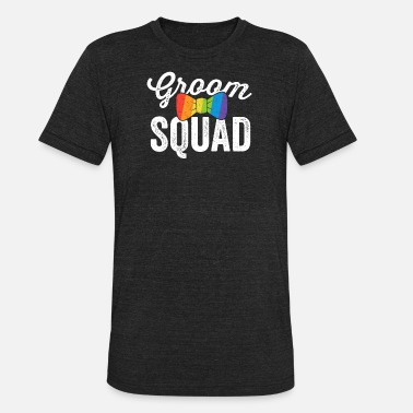 Groom Squad Groom Squad Shirt LGBT Pride Gay Bachelor Wedding Gift - Unisex Tri-Blend T-Shirt