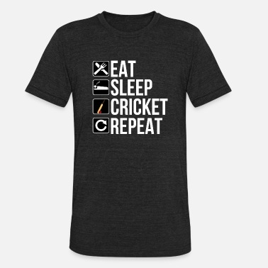 Cricket Cricket Player Gift - Eat Sleep Cricket Repeat - Unisex Tri-Blend T-Shirt