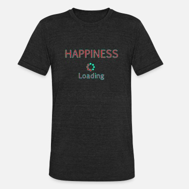 Lettering Happiness loading title text quotes - Unisex Tri-Blend T-Shirt