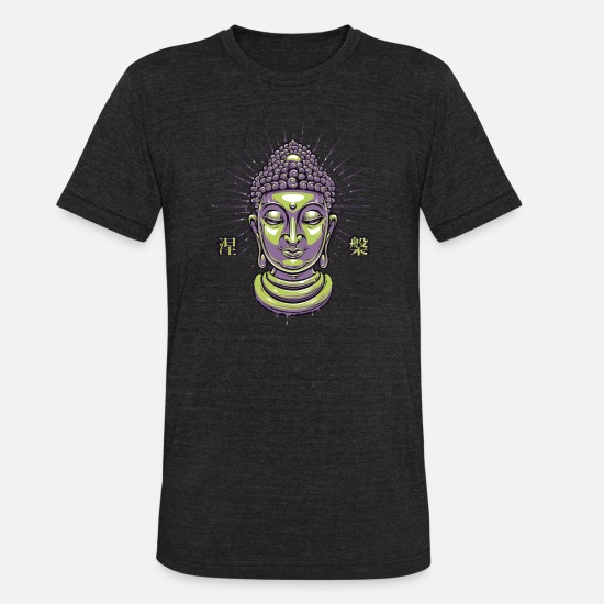 Buddha T-Shirts - Buddha - Unisex Tri-Blend T-Shirt heather black