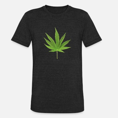 Smoke Effect Weed low polygon effect - Unisex Tri-Blend T-Shirt