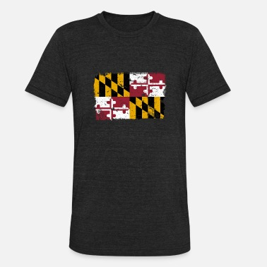 Flag Of Maryland Maryland Vintage Flag - Unisex Tri-Blend T-Shirt