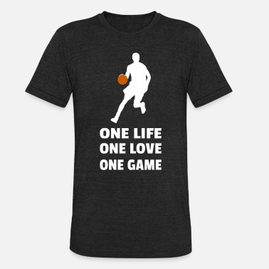 B Ball Basketball Baller B-Ball Dunk Matchday Gift - Unisex Tri-Blend T-Shirt