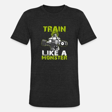 Broly Legendary Broly Train Like A Monster T-Shirt - Unisex Tri-Blend T-Shirt