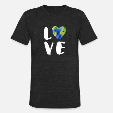 Hour Vintage Love Your Earth TShirt - Unisex Tri-Blend T-Shirt