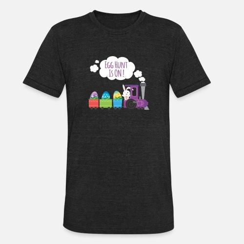 9371aef04 Egg Hunt Is ON Funny Easter T Shirt Design Unisex Tri-Blend T-Shirt |  Spreadshirt