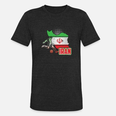 Iran Soccer Jerseys Football Soccer Iran Flag - Unisex Tri-Blend T-Shirt