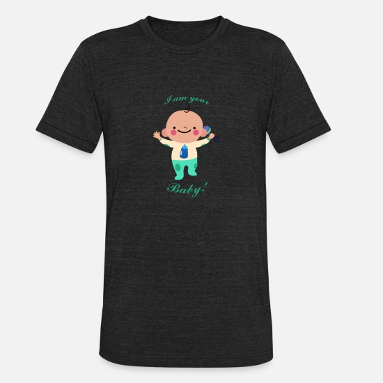 Birthday T-Shirts - Baby - Unisex Tri-Blend T-Shirt heather black