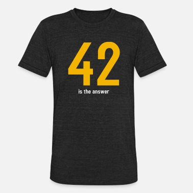 42 Is The Answer The answer is 42 - Unisex Tri-Blend T-Shirt